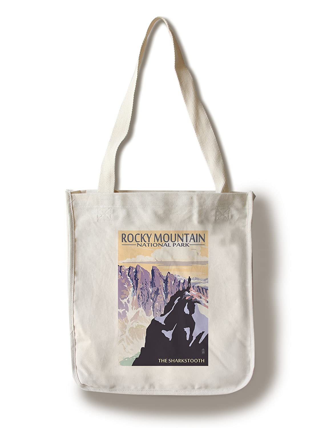 The Sharkstooth – ロッキーマウンテン国立公園 Canvas Tote Bag LANT-36920-TT B01841CH48  Canvas Tote Bag
