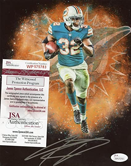 Kenyan Drake Miami Dolphins Edit Signed Autographed 8x10 Photo Jsa