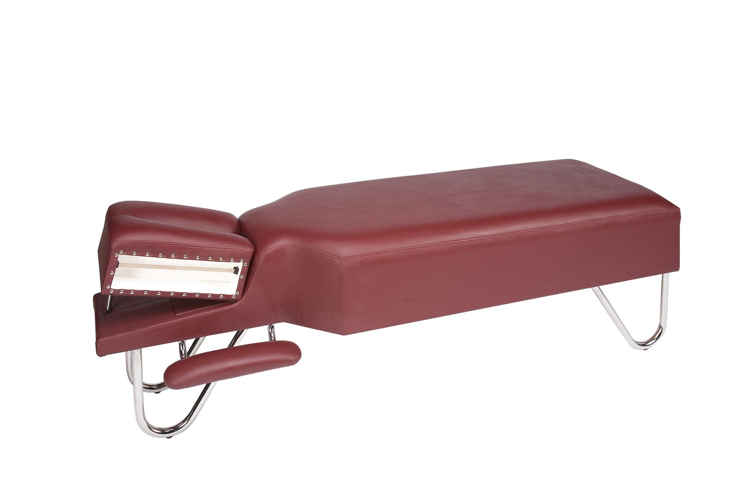 ROW Medical 3-06 Adjustment Bench with Armrests and Headpiece, Burgundy