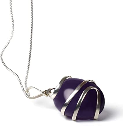 Brand New Healing Gemstone Pendant Beads with Real Leather Cord Necklace