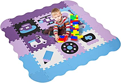Kids Baby Crawling Play Mat Non-Toxic Extra Thick Foam Large with Gate Fence US