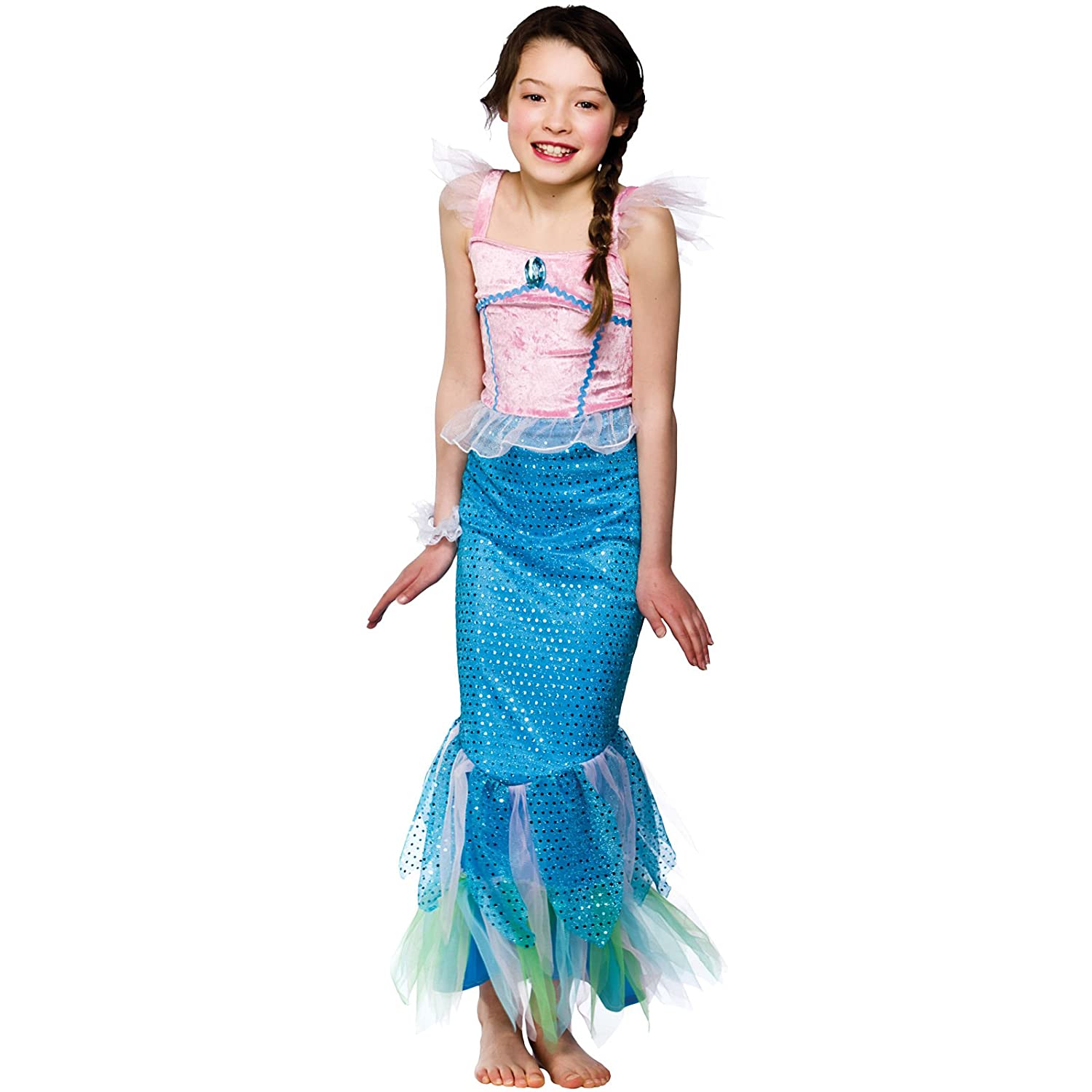 L) Girls Mystical Mermaid Costume for Ancient Historic Fancy Dress ...