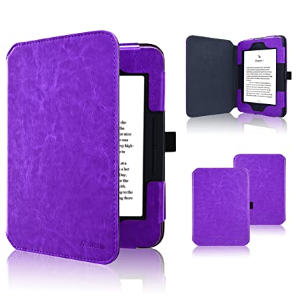 Nook GlowLight 3 Case, ACdream Folio Premium Leather Ereader Cover Case for  Barnes & Noble Nook GlowLight 3 (2017 Release), (Dark Purple)