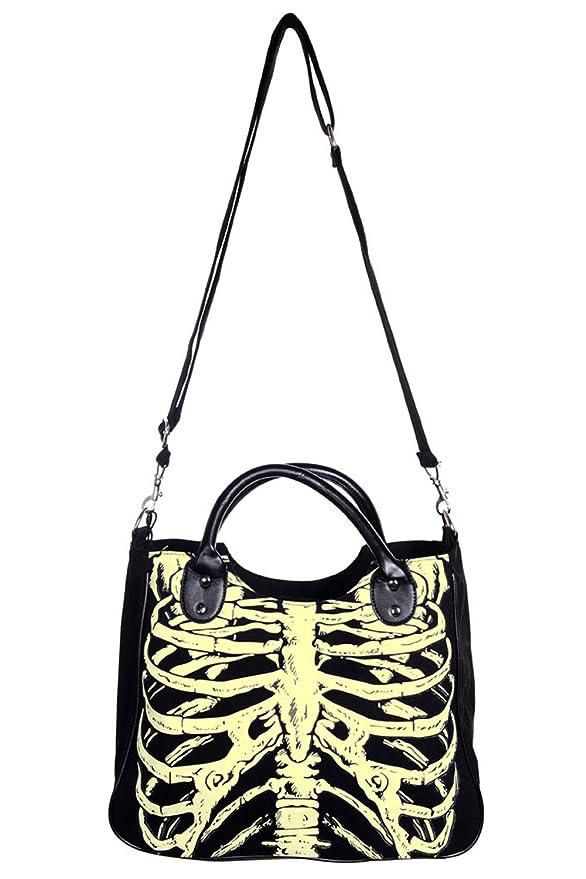 Amazon Banned Glow In The Dark Skeleton Shoulder Bag Black