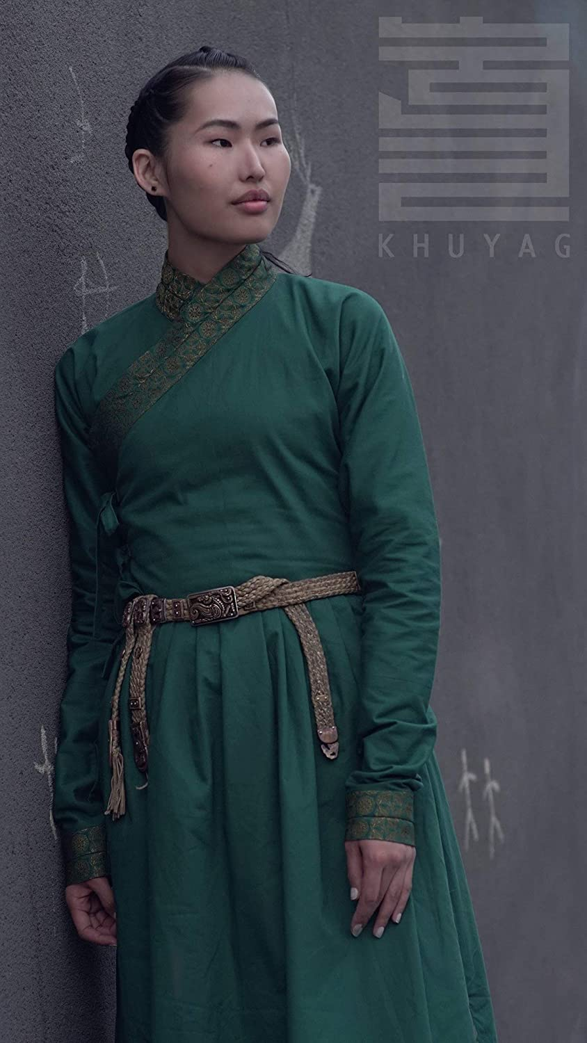 14 Th Century Mongolian Women&Rsquo;S Green Deel