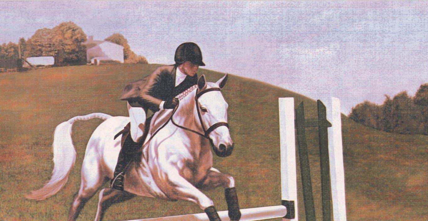 Retro Art Polo equitación papel pintado Retro diseño Vintage de ...