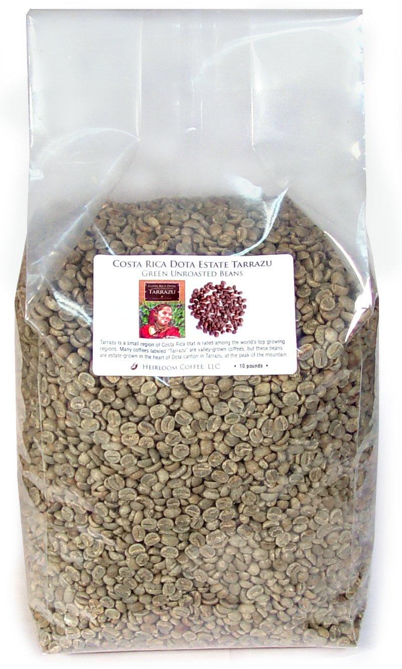 Costa Rica Dota Estate, Green Unroasted Coffee Beans (10 LB) by Heirloom Coffee LLC