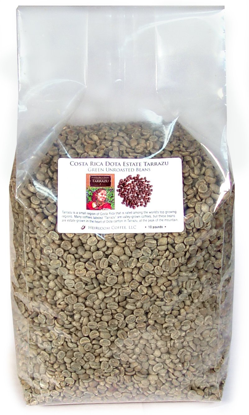 Costa Rica Dota Estate, Green Unroasted Coffee Beans (10 LB)