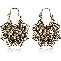 Shuda 1 par de Pendientes de Moda Vintage con diseño de Flores para Mujeres y niñas, Accesorios de joyería de Regalo