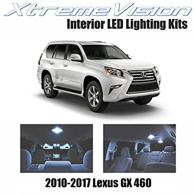 XtremeVision Interior LED for Lexus GX 460 2010-2020 (12 Pieces) Cool White Interior LED Kit + Installation Tool: Automotive