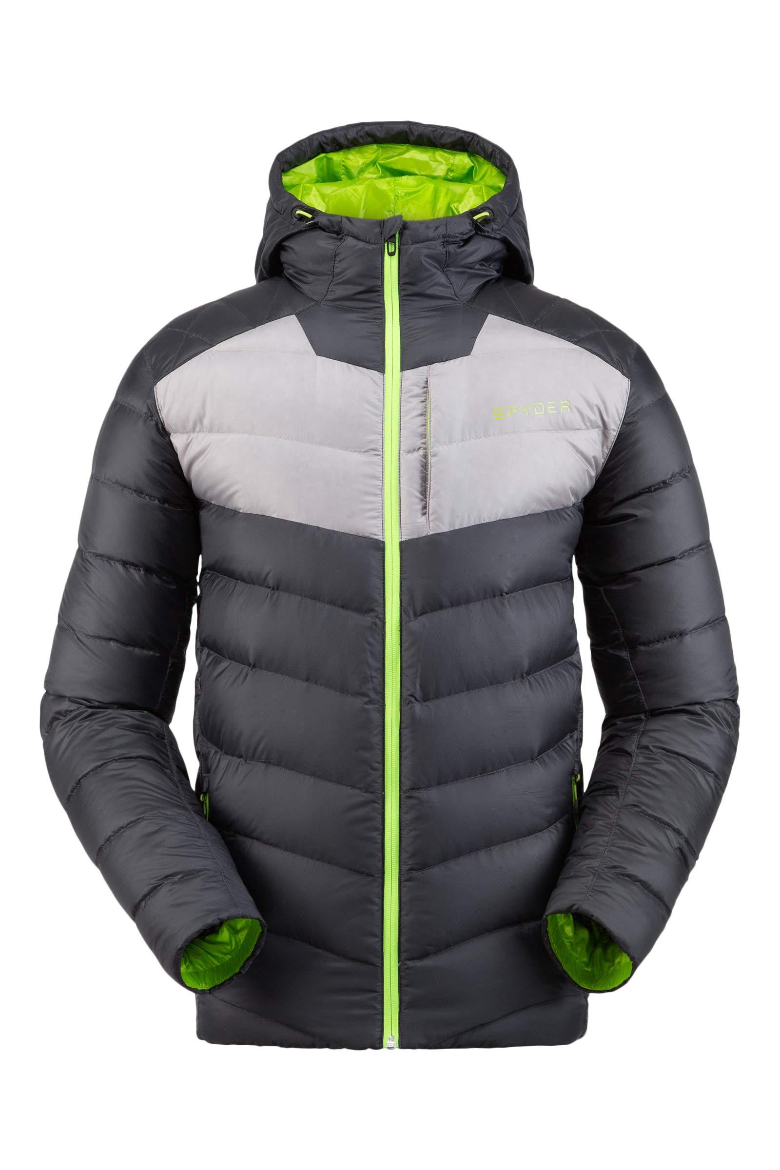 Spyder Women/'s Timeless Hoodie Down Jacket Paneled Puffy Lightweight Hooded Full Zip
