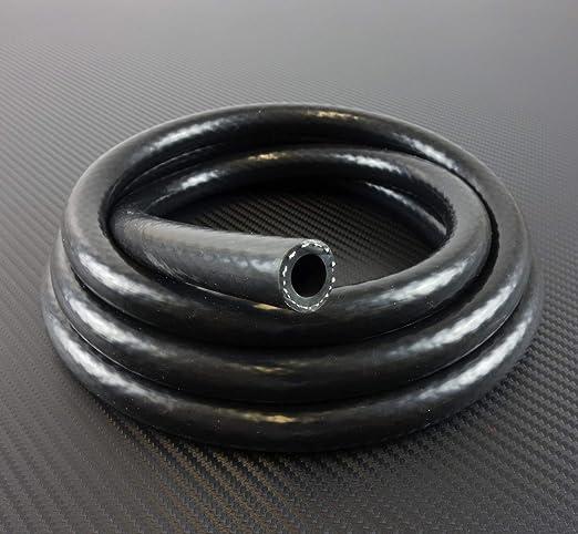 1m Silikonschlauch Vario Schwarz Innendurchmesser 5mm Unterdruckschlauch Vakuumschlauch Kühlwasserschlauch Auto