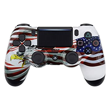 eXtremeRate Carcasa para PS4 Funda Delantera Protectora de la Placa Frontal Cubierta para Mando de Playstation 4 PS4 Slim Pro CUH-ZCT2 JDM-040 JDM-050 ...