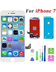 """Screen Replacement for iPhone 7 4.7"""", LCD Touch Display Screen Digitizer Frame Assembly Replacement with Repair Tool Set (White)"""