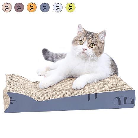 AMZNOVA - Almohadilla para rascar Gatos, rascadores para Gatos, cartón Corrugado reciclable con Parte