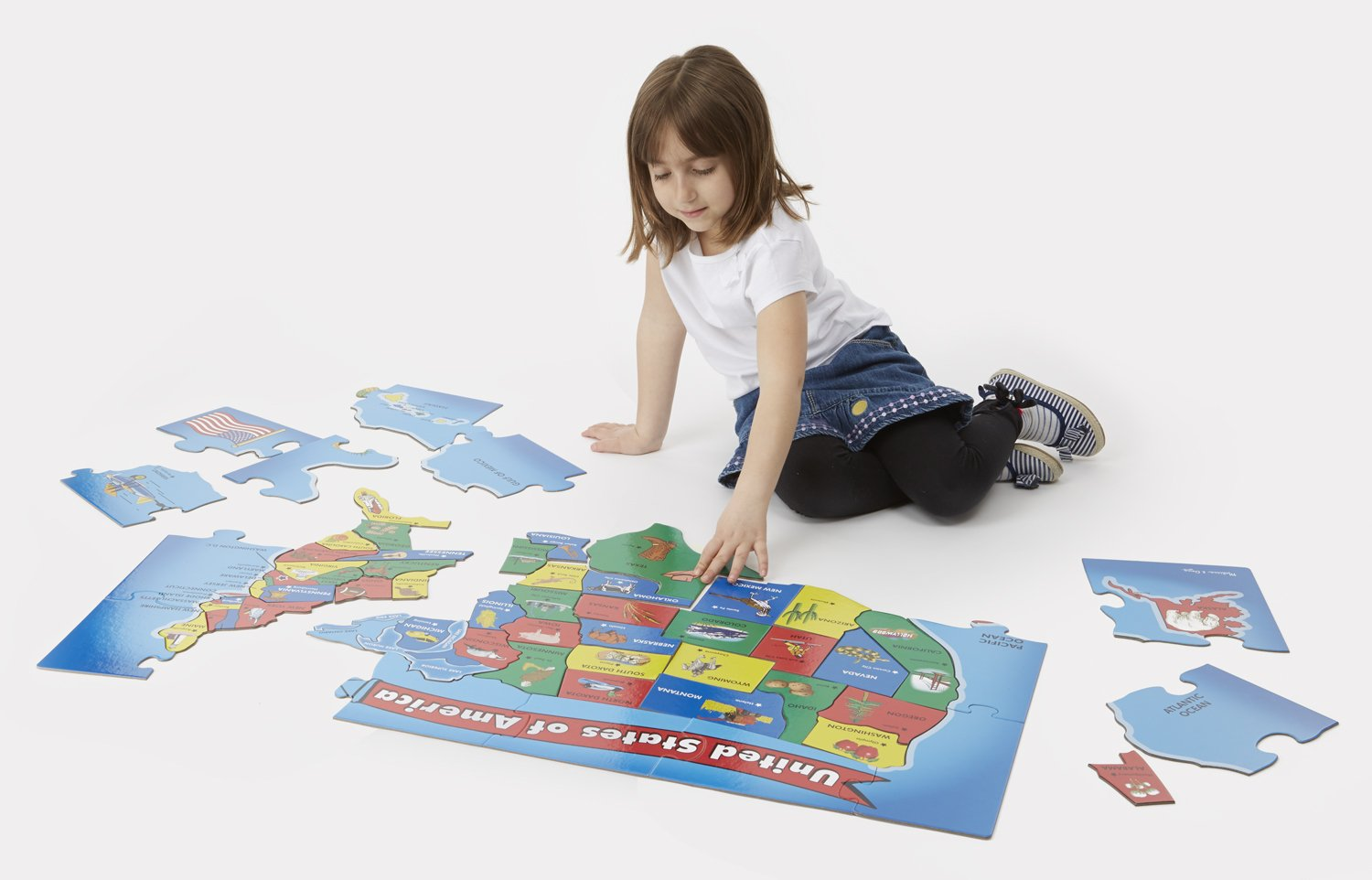 Amazon.com: Melissa U0026 Doug USA Map Floor Puzzle (51 Pcs, 2 X 3 Feet):  Melissa U0026 Doug: Toys U0026 Games