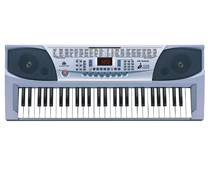 Amazon.com: AUDSTER FK-5400, 54-Key Professional Electronic Keyboard with LED Display & Includes Microphone: Musical Instruments