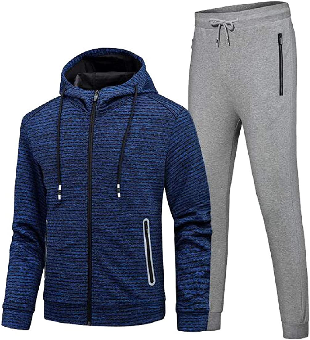 Pandapang Men Casual Athletic Jacket Sportswear Running Jogger Pants Tracksuit