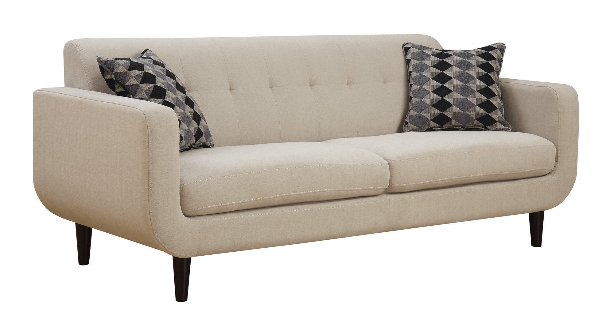 Coaster Home Furnishings 505204 Stansall Collection Sofa, Ivory