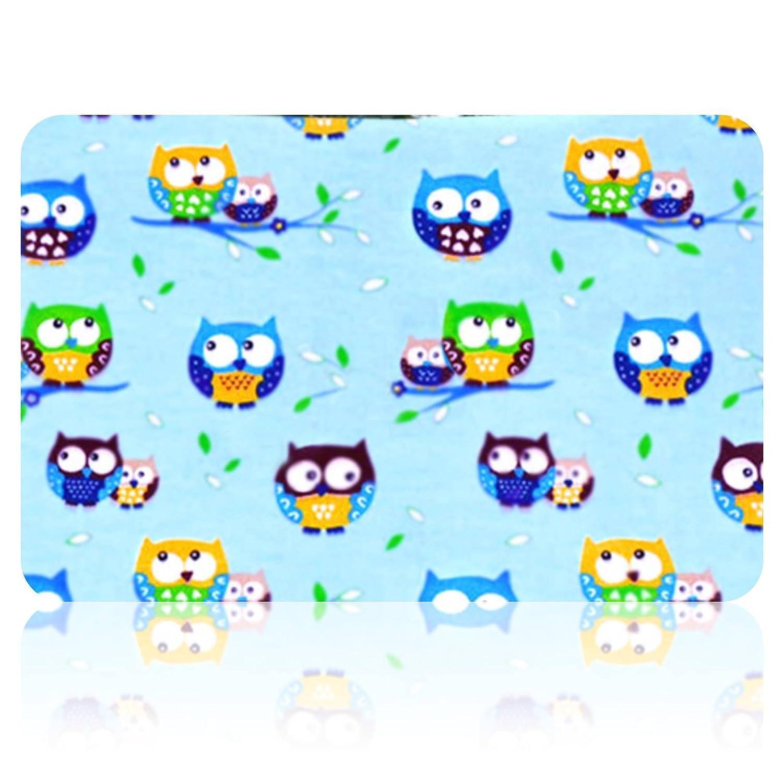 Eule blau Baby Mullwindeln Spuckt/ücher 70 x 80 cm von Family-Kollektion I 5 x Baumwolle Mullt/ücher I Baumwollwindeln Stoffwindeln Set