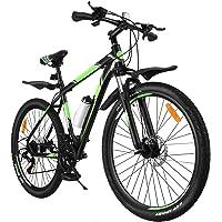 VOSAREA Bicicleta de ciclismo de montanha de 21 velocidades com moldura de alumínio, garfo de suspensão e bicicleta de…