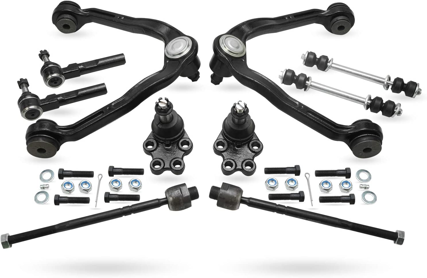 Sway Bars Detroit Axle Inner Outer Tie Rods w//Rack Boots and Bellow Kit for 2007 2008 2009 2010 2011 2012 Nissan Sentra 10pc Front Control Arms w//Ball Joint Assembly