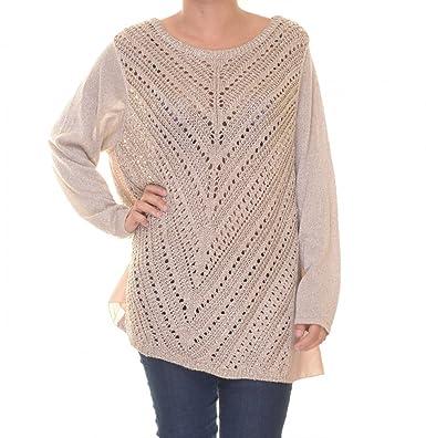 d5e2dcf135c INC International Concepts Metallic Crochet-Front Mixed Sweater Size ...