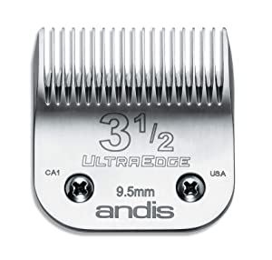 Andis 64089 UltraEdge Carbon-Infused Steel Clipper Blade, Size 3-1/2, 3/8-Inch Cut Length