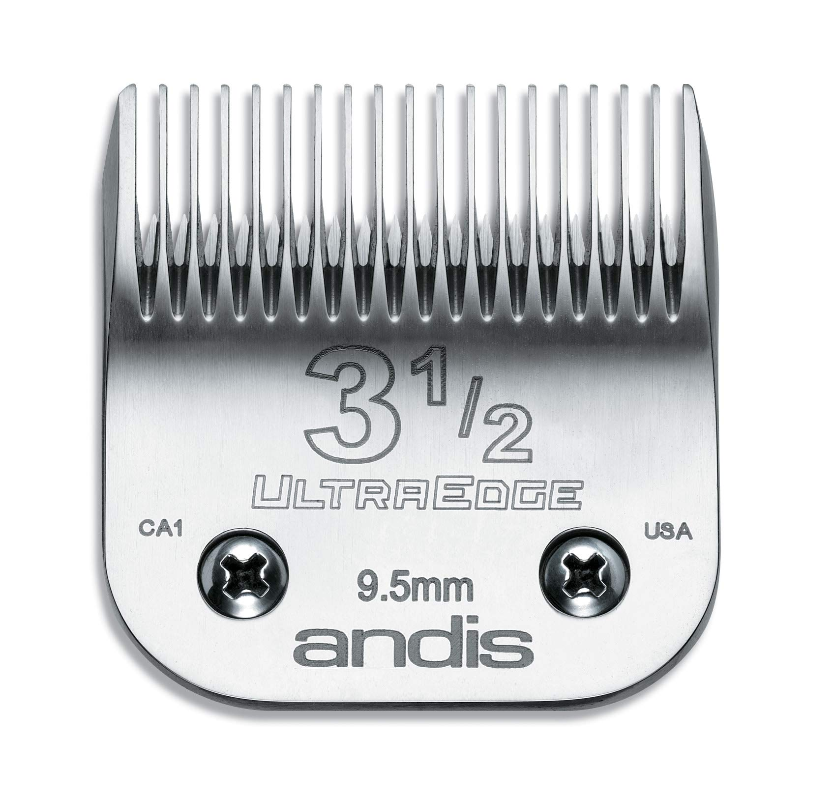 Andis Carbon-Infused Steel UltraEdge Clipper Blade, Size-3-1/2, 3/8-Inch Cut Length (64089)