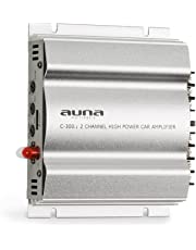 auna C300.2 • Amplificador de Coche • Terminal de 2 Canales • 2 x 200 W Musik- / 2 x 100 W RMS • Ecualizador de Dos Bandas Regulable • 20 Hz - 20 kHz • Múltiples Conexiones • Chasis metálico