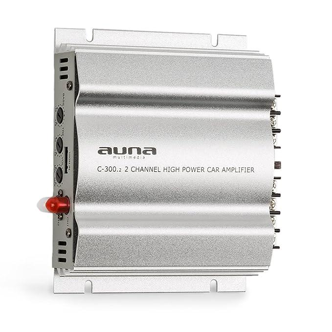 auna C300.4 - Amplificador de Coche, Terminal de 4 Canales, 4x200 ...
