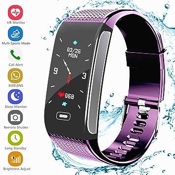 Montre Connectée, Fitness Tracker dActivité Bracelet avec Podomètre Moniteur de Fréquence Cardiaque IP67