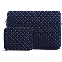 Mosiso Funda Protectora Compatible 13-13,3 Pulgadas MacBook Air/MacBook Pro/Pro Retina/Surface Laptop 2 2018 2017/Surface Book 2/1, Diamante Espuma Agua Repelente Bolsa con Pequeño Caso, Azul Marino