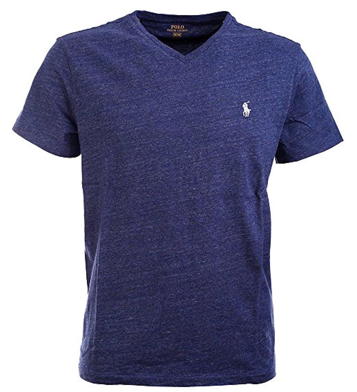Ralph Lauren Polo Herren V-Neck Shirt T-Shirt Blau Meliert Größe M:  Amazon.de: Bekleidung