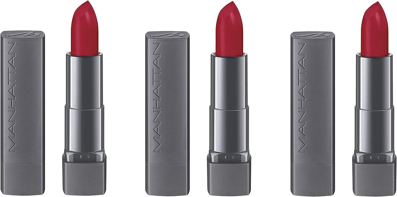 Manhattan All in One Matte Lipstick 600 True Red, 3 Pack (3 x 4 G ...