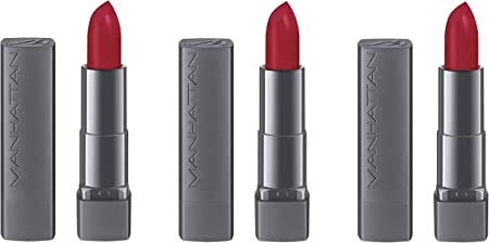 Manhattan All in One Matte Lipstick 600 True Red, 3 Pack (3 x 4 G ...