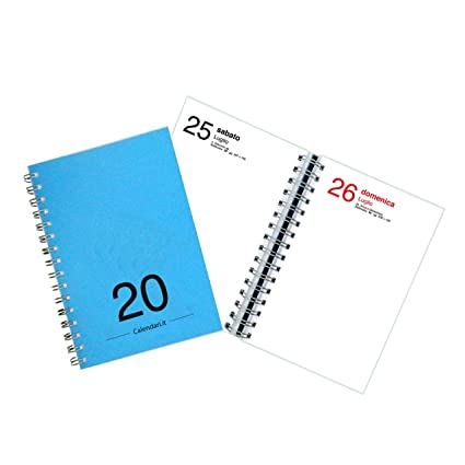 Agenda 2020 diaria anual medida 15 x 21 cm - A5 - con ...