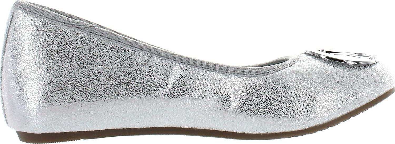 823eec79f213 Amazon.com   Michael Kors Girls Faye Ria Designer Mk Fashion Flats Shoes    Flats