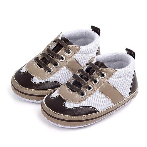 ee421352bfd8d Nagodu Zapatos para Bebe niño Blanco con Beige y Cafe