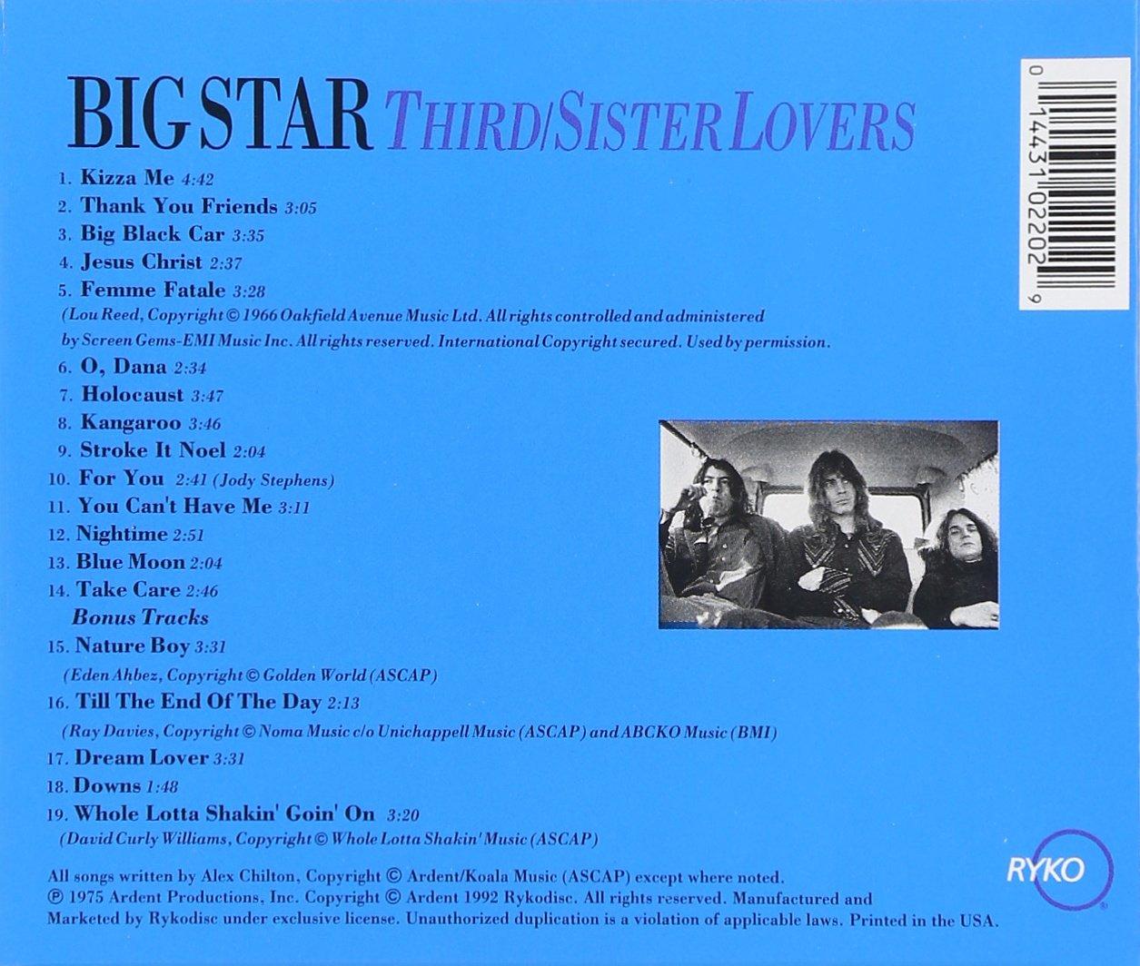 Thirdsister lovers big star amazon msica malvernweather Images