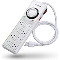 Fosmon 8-Outlet Surge Protector Power Strip (White)