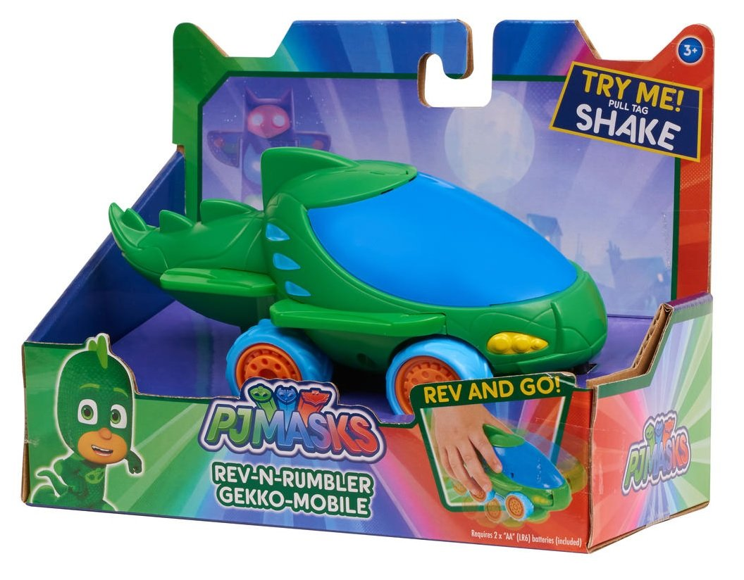 PJ Masks Rev-N-Rumbler - GEKKO-MOBILE - Shake, Place on the Ground and Race, Includes Real Phrases and Sound Effects from the PJ Masks Show: Toys & Games