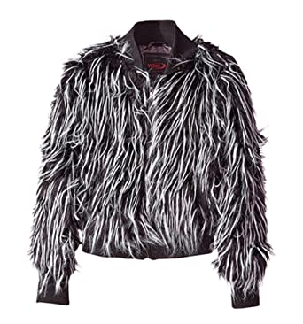 Amazoncom Yoki Big Girls 100 Vegan Fur Jacket Clothing