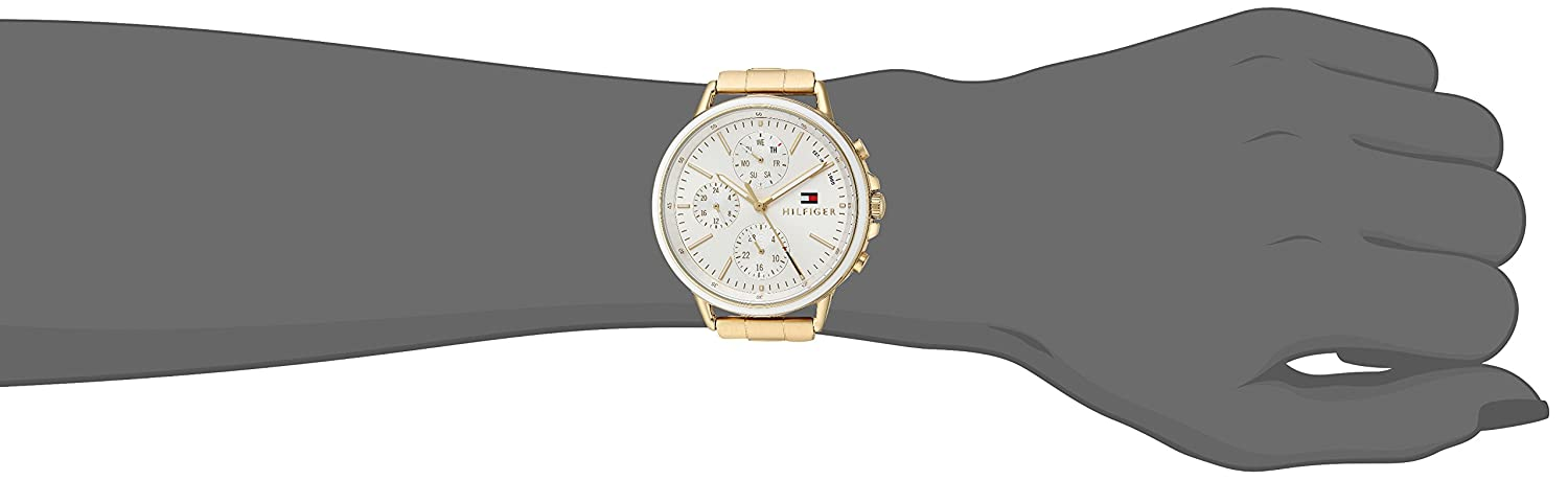 Tommy Hilfiger Women s Casual Sport Quartz Watch with Gold-Tone-Stainless-Steel Strap, 6 Model 1781786