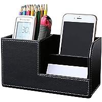 حقيبة أقلام منظم من الجلد الصناعي من يوبامي، حقيبة جلدية متعددة الوظائف للمكتب المنزلي، صندوق تخزين، هاتف خلوي، بطاقات…