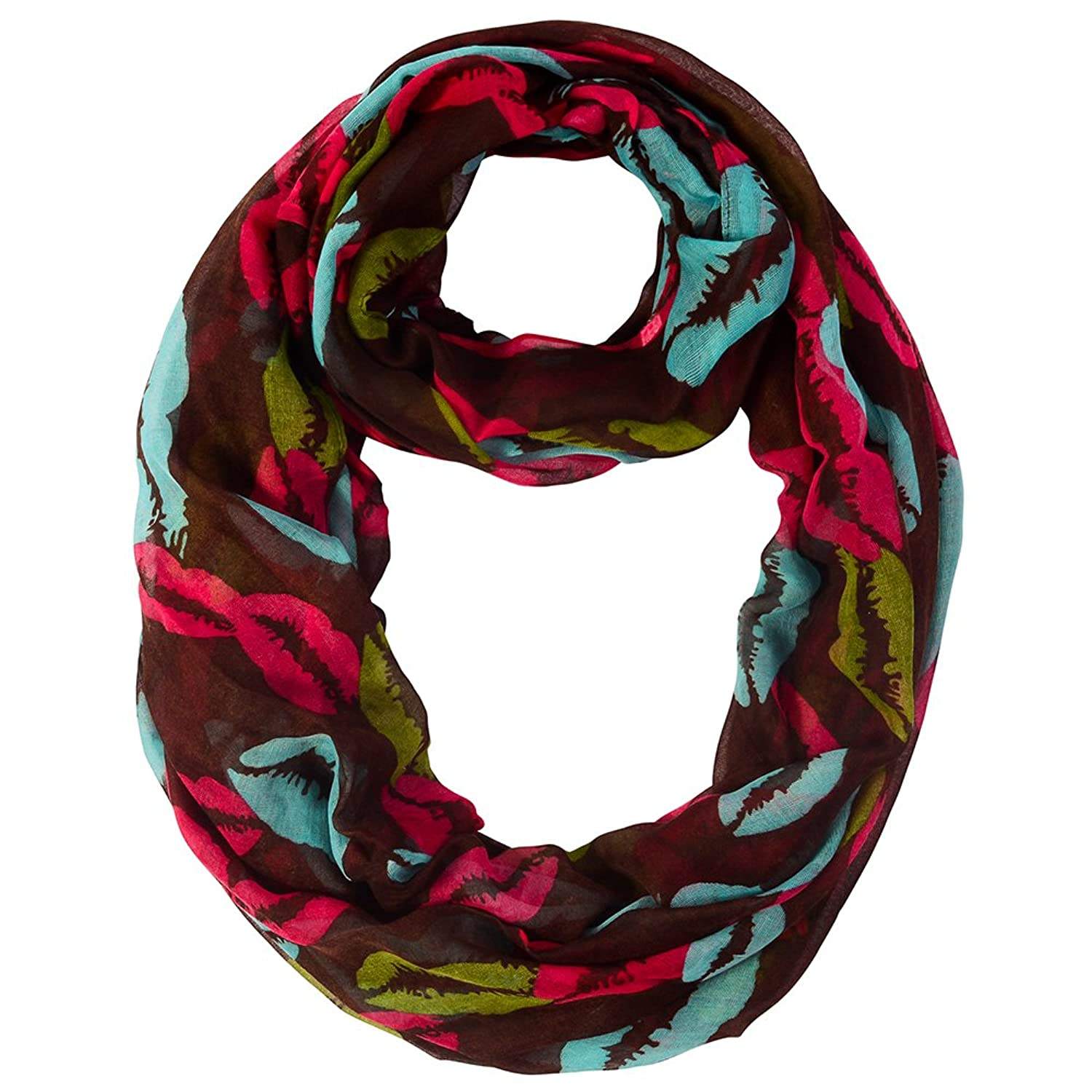 Lightweight infinity scarf - with hot lips