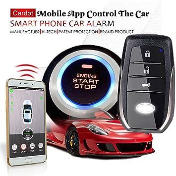 GSM alarma de coche con móvil App Control Función Auto ...