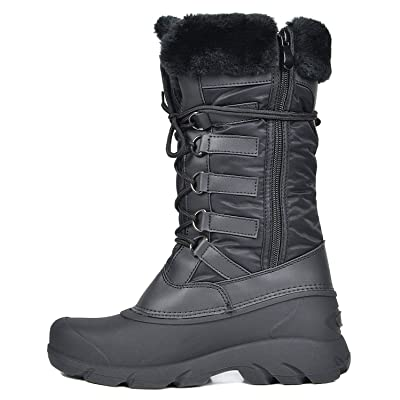 DREAM PAIRS Women's Faux Fur Lined Mid Calf Winter Snow Boots   Snow Boots
