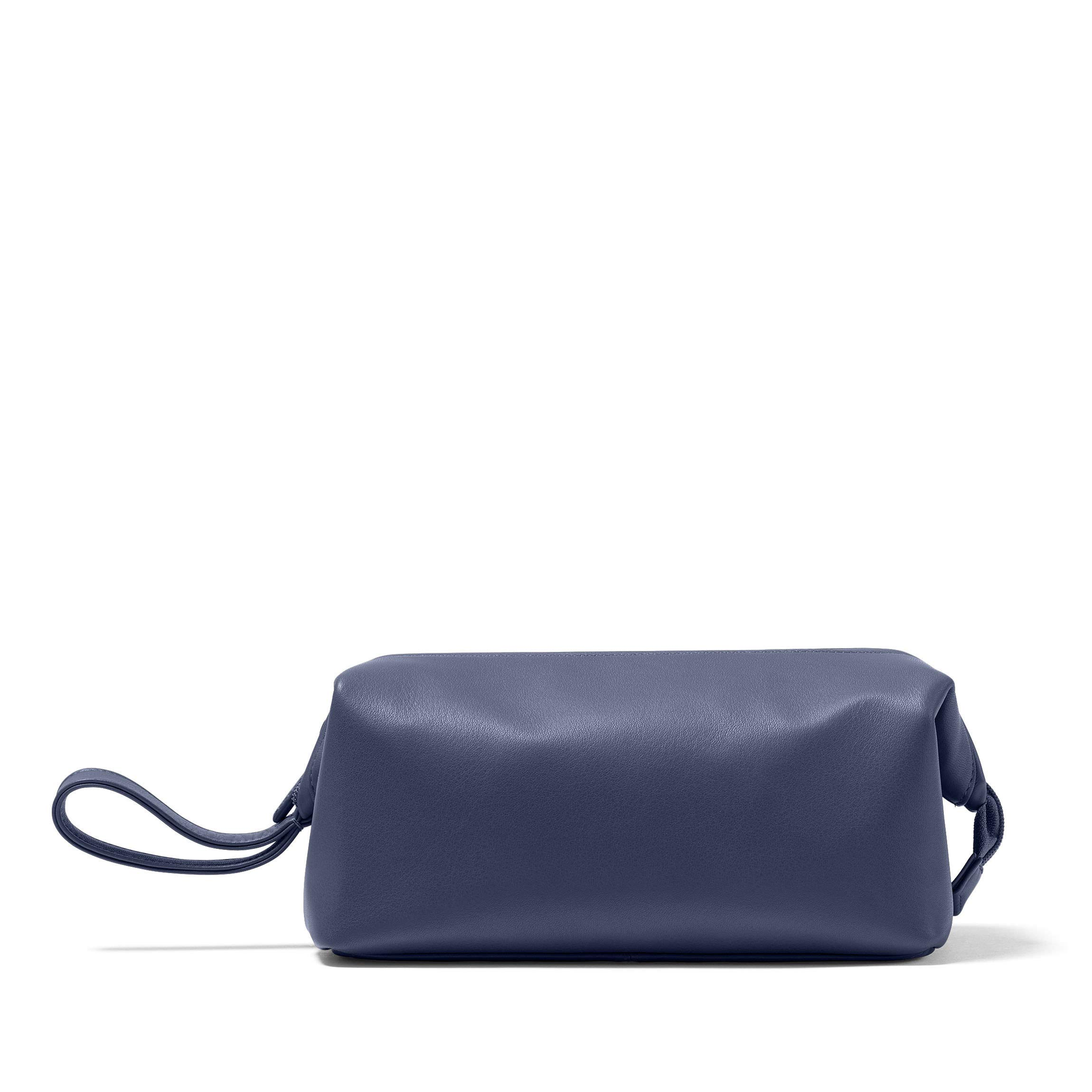 Leatherology Framed Toiletry Bag - Full Grain Leather - Navy (blue)