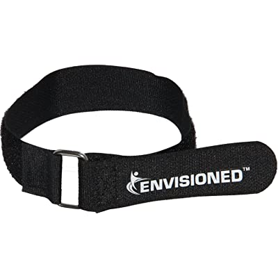 """Premium Cinch Straps with Stainless Steel Metal Ring (Buckle), Reusable Durable Hook and Loop, Multipurpose Securing Straps 4 Pack - 2"""" x 100"""": Home Improvement"""